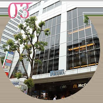 江坂駅徒歩約1分・駅近で便利なアクセス
